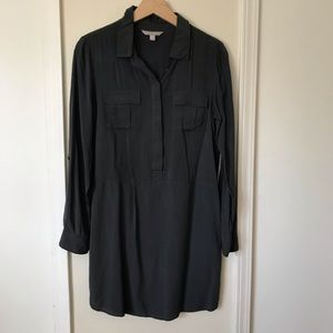 Ann Taylor Gray Shirt Dress